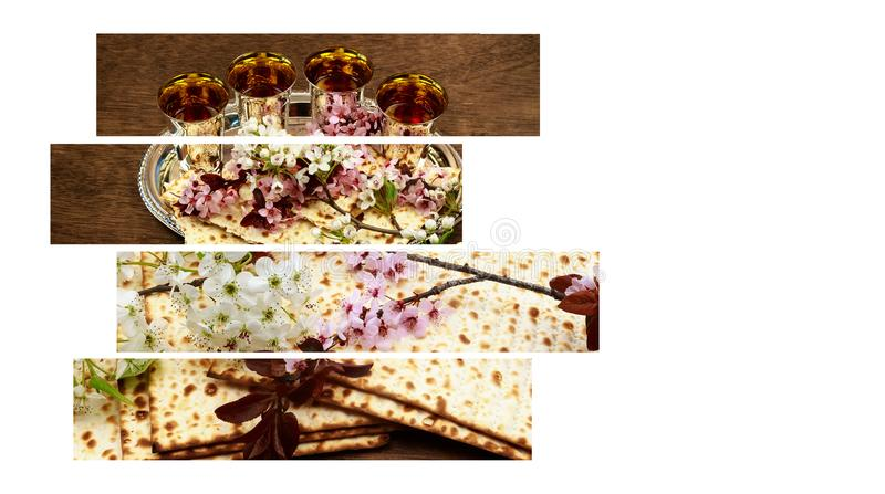 Pesah celebration concept jewish Spring holiday of Passover in hebrew: Passover Haggadah. Pesah celebration concept jewish Spring holiday of Passover, with text royalty free stock photos