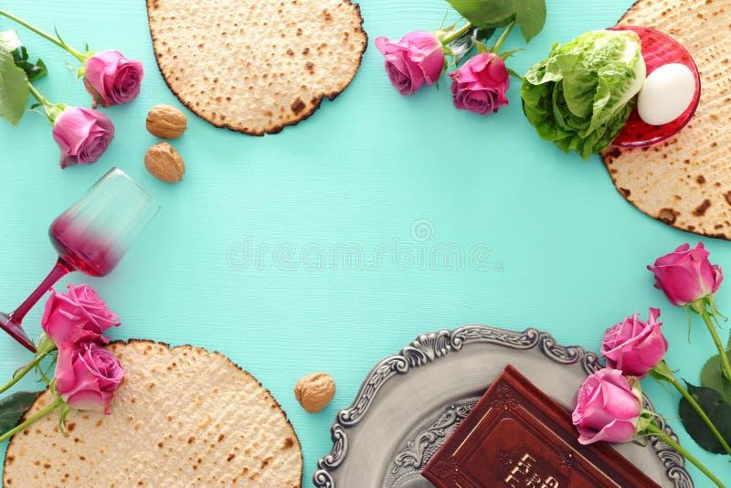 Pesah-Feierkonzept jüdischer Passahfestfeiertag stockfotografie
