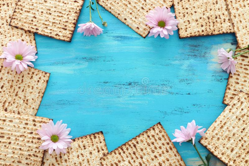 Pesah-Feierkonzept jüdischer Passahfestfeiertag lizenzfreies stockfoto