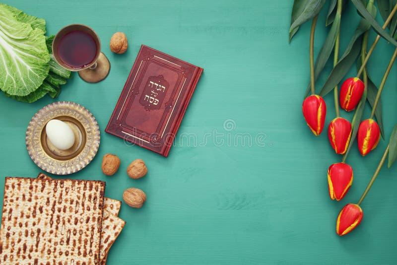 Pesah-Feierkonzept u. x28; jüdisches Passahfest holiday& x29; stockbild