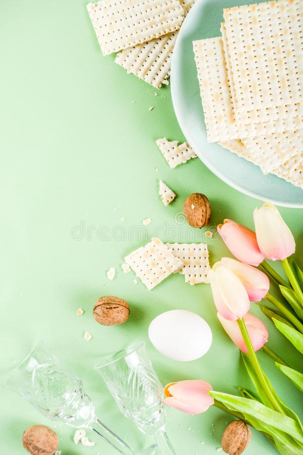 Pesah, jewish Passover holiday background stock images
