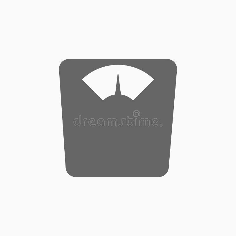 Pesando o ícone do instrumento, escala o vetor ilustração stock