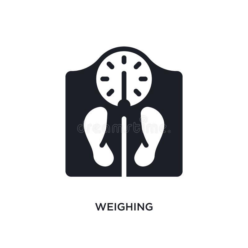 pesando o ícone isolado ilustração simples do elemento dos ícones do conceito dos dispositivos eletrónicos pesando o símbolo edit ilustração stock