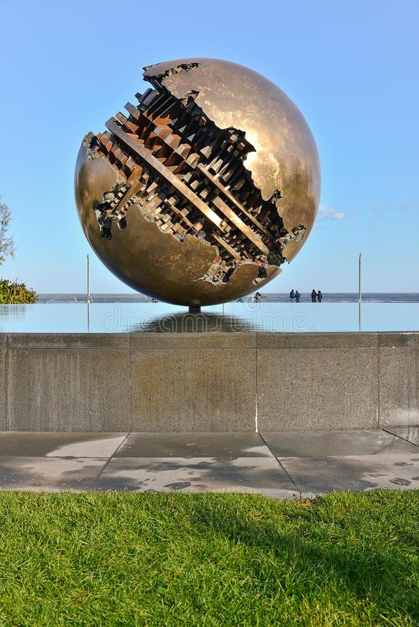 Download Pesaro And The Great Ball Of A  Pomodoro Editorial Photography - Image: 28232702