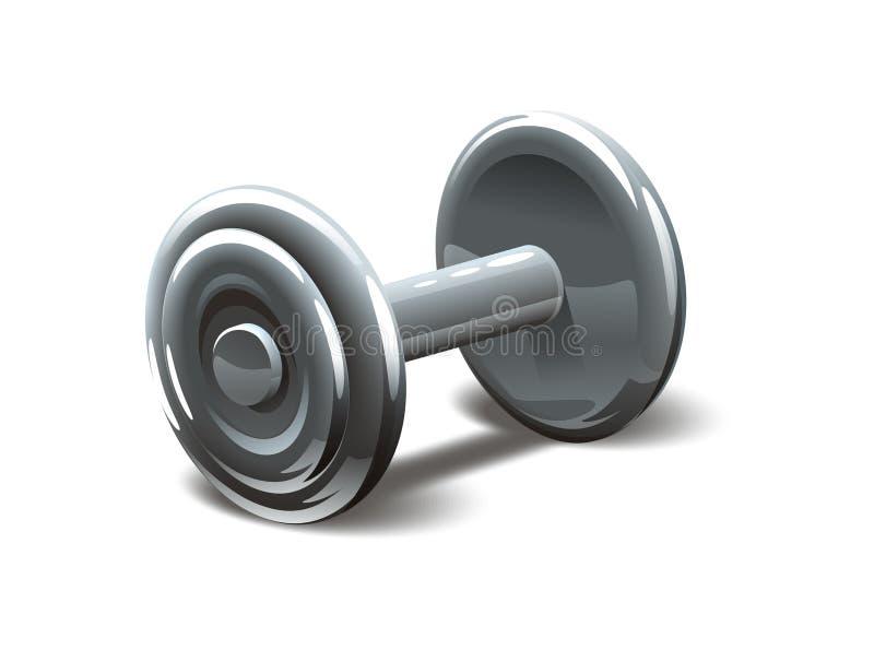 Pesas de gimnasia ilustración del vector