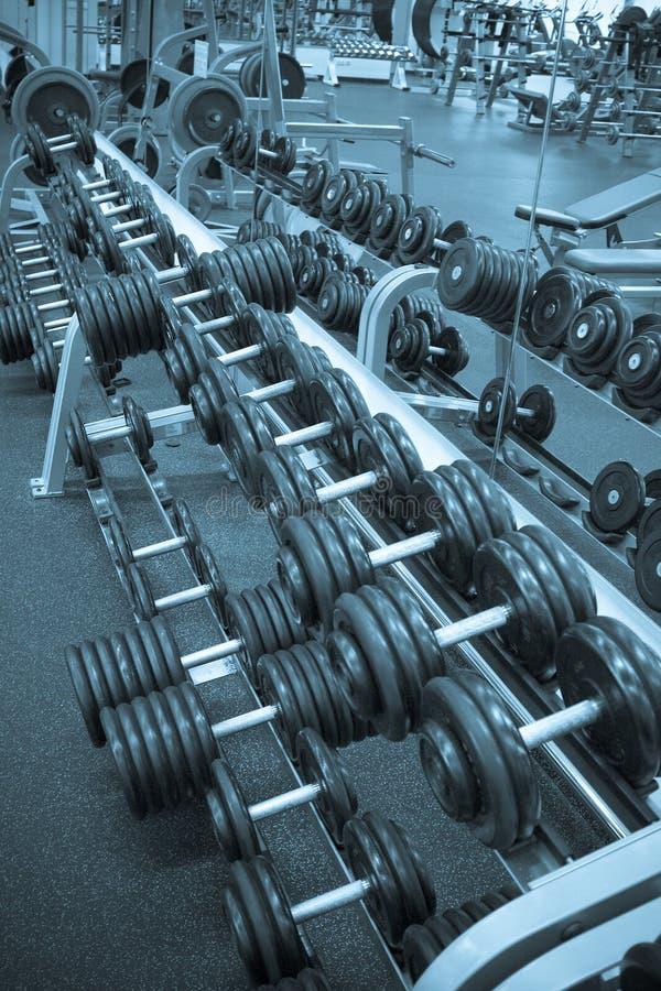 Pesas de gimnasia imagen de archivo libre de regalías