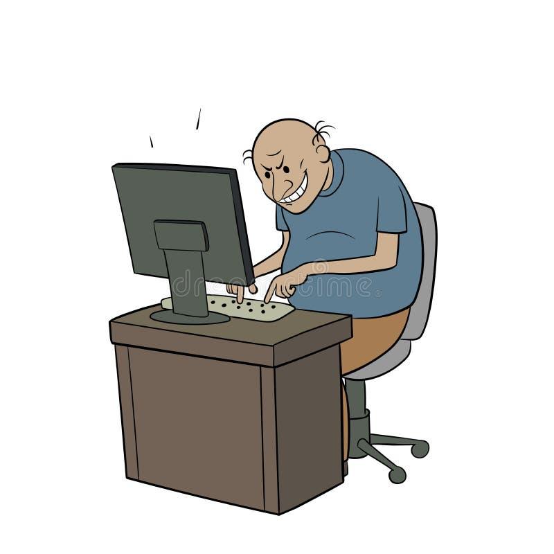 Pesca à corrica do Internet ilustração do vetor