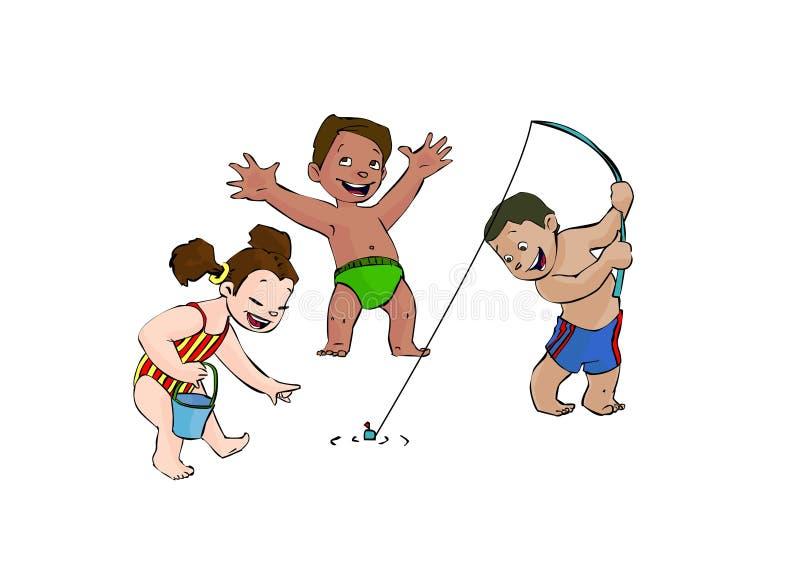 Pesca! ilustração stock