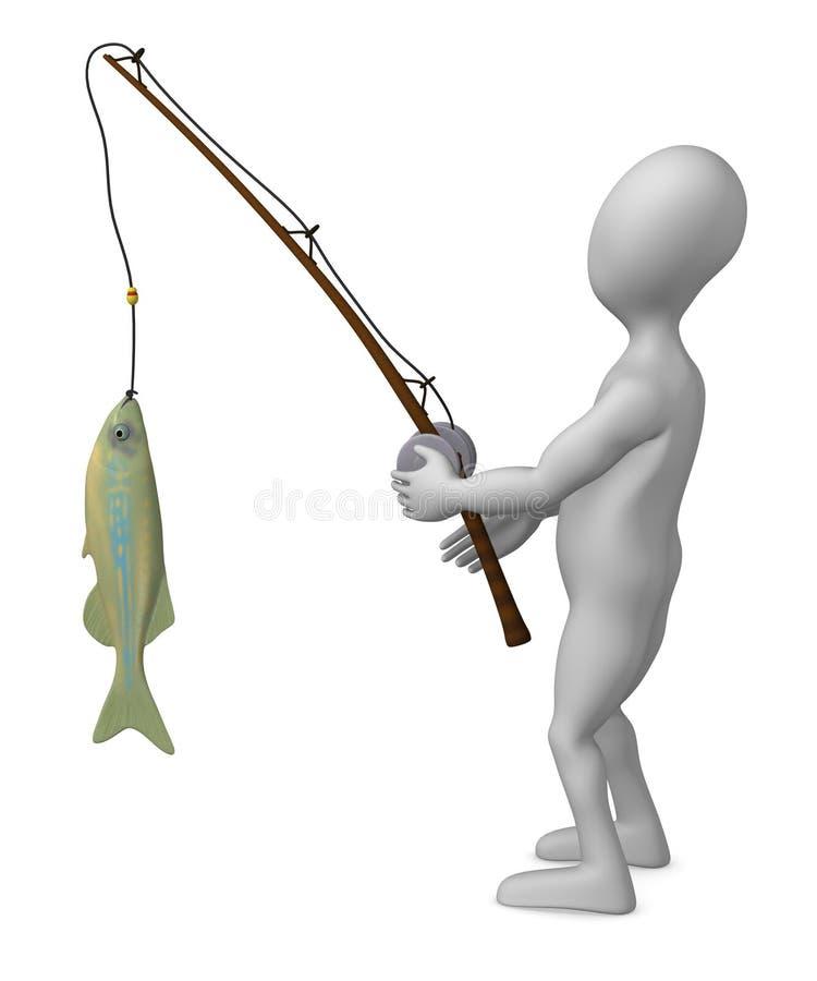 Pesca stock de ilustración