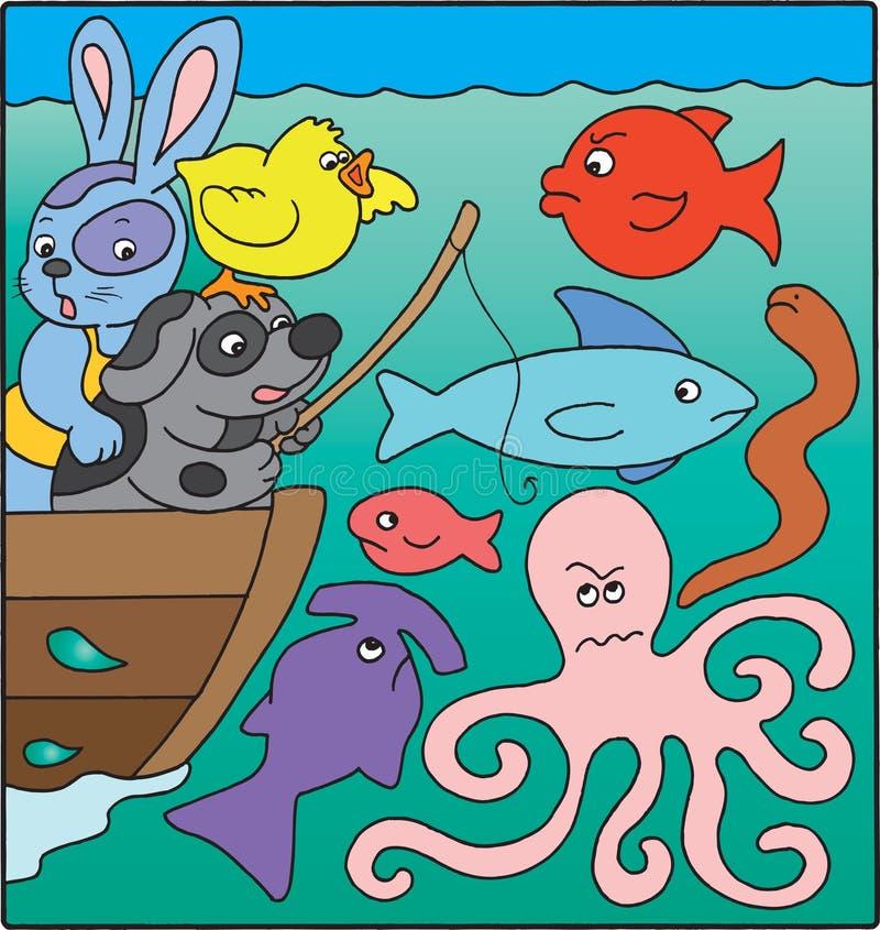 Pesca illustrazione vettoriale
