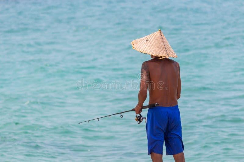 Pesca all'isola Tailandia di Koh Samui fotografia stock