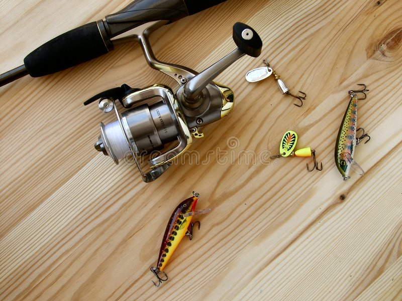 Download Pesca andante fotografia stock. Immagine di asta, divertimento - 208828