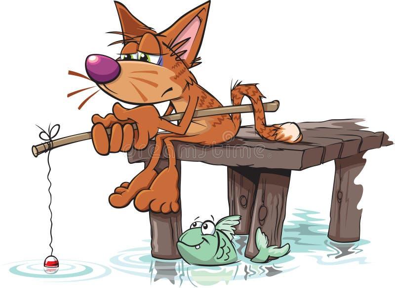 Pesca andata illustrazione di stock