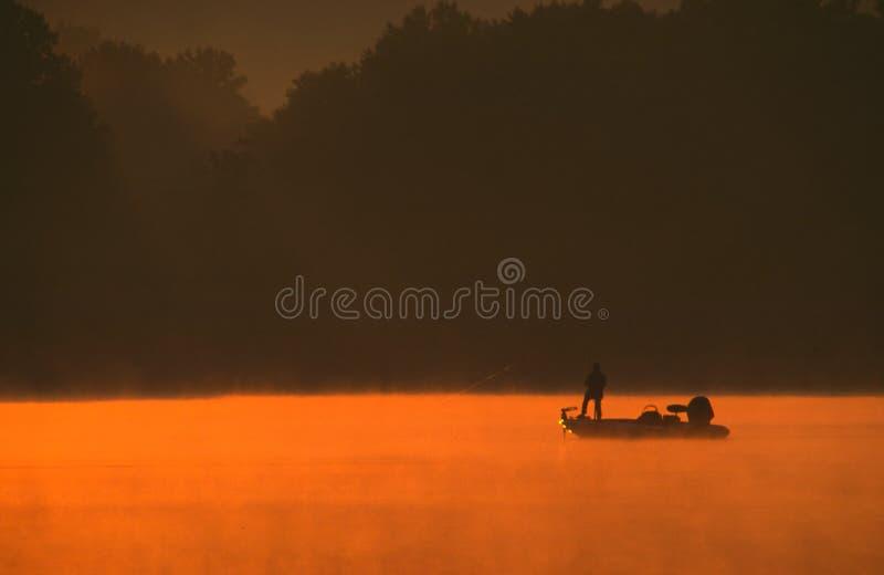 Pesca bassa fotografie stock libere da diritti