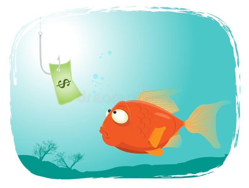 Pesca com dinheiro ilustração do vetor