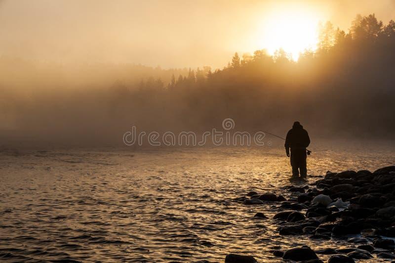 Pesca con la mosca fotografia stock libera da diritti