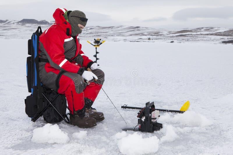 Pesca da água dura fotos de stock