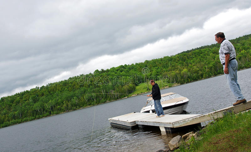 Pesca da doca imagens de stock royalty free