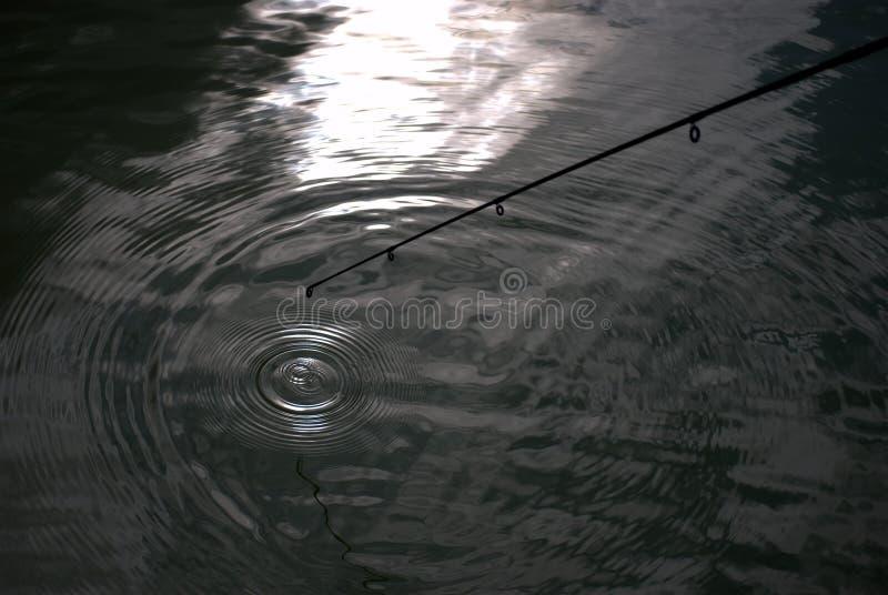 Pesca da pessoa no luar fotos de stock