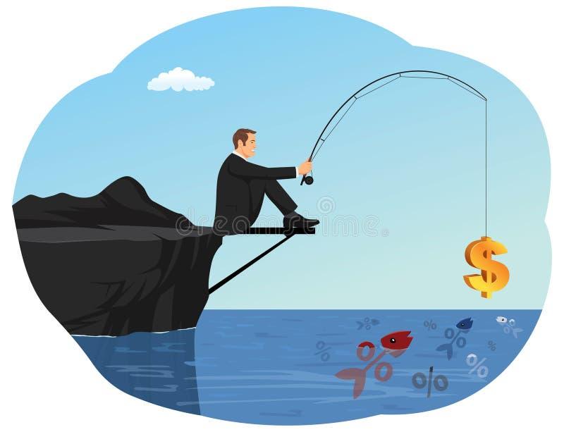 Pesca da taxa ilustração stock