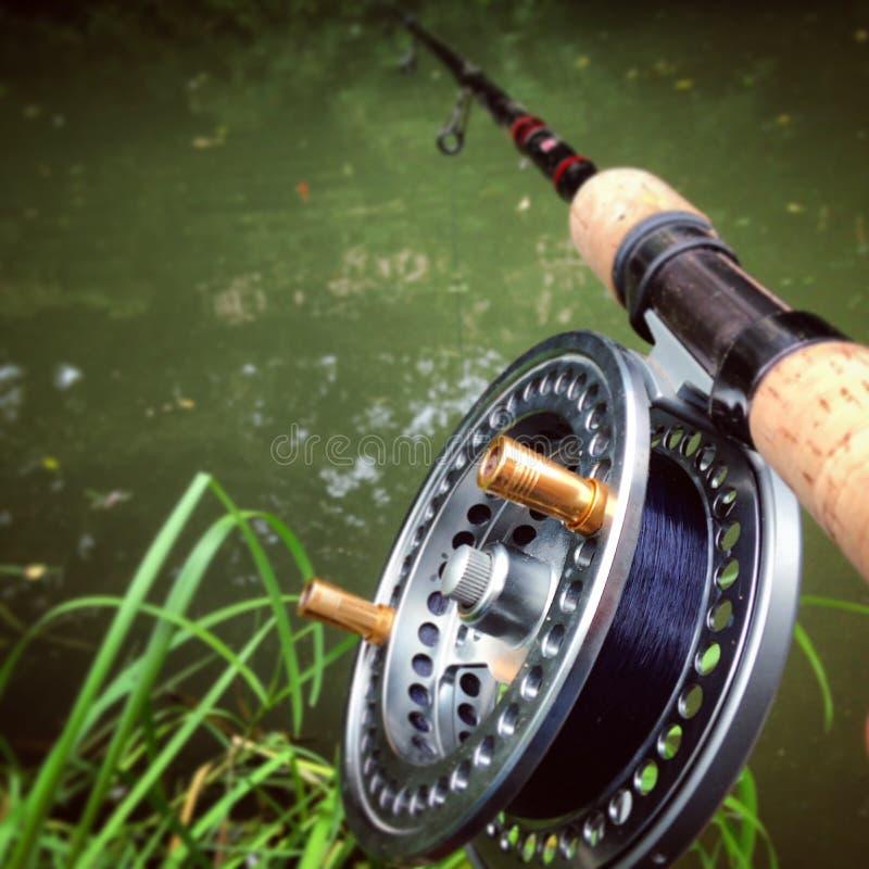 Pesca de Centerpin foto de archivo libre de regalías
