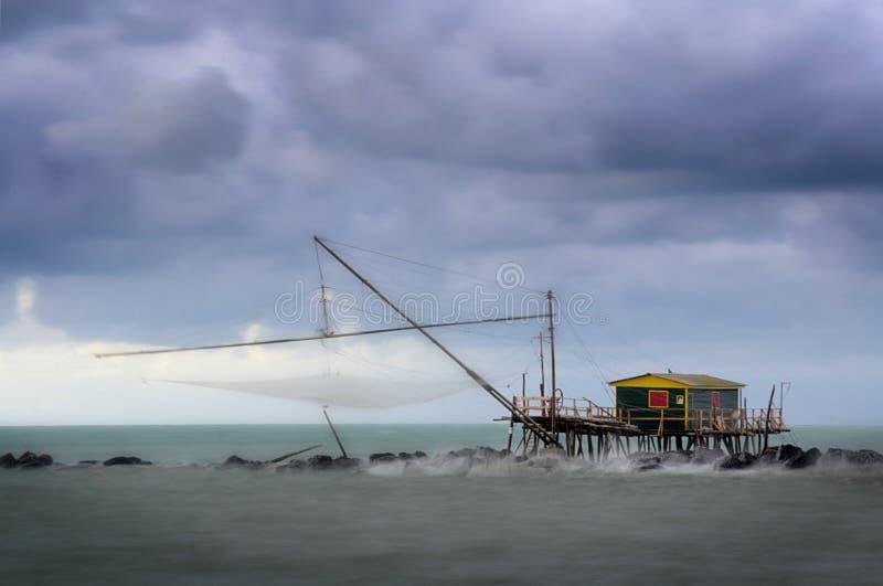 Pesca de la estructura de madera fotos de archivo