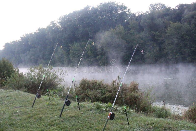 Pesca de la madrugada imagen de archivo libre de regalías