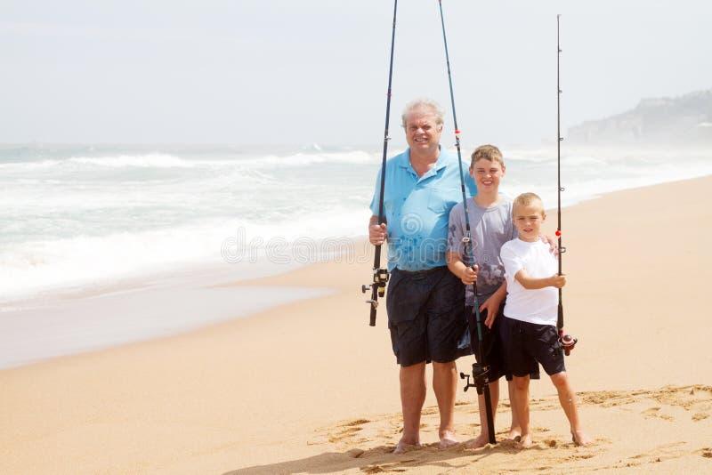 Pesca de la playa fotografía de archivo libre de regalías