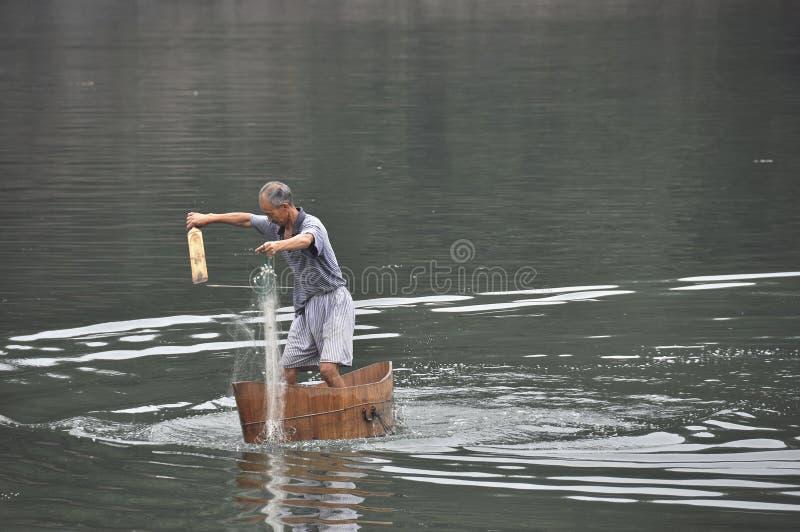 Pesca de la red de pesca fotos de archivo libres de regalías