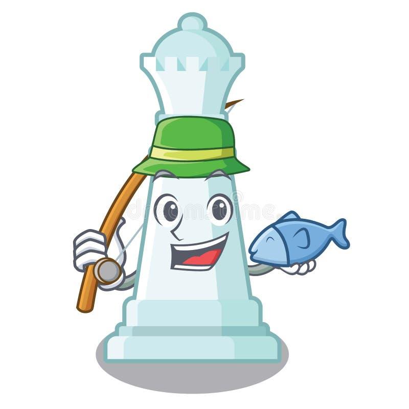 Pesca de la reina del ajedrez en la forma de la historieta libre illustration