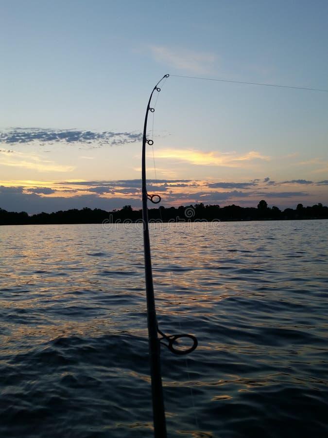 Pesca de la tarde fotografía de archivo libre de regalías