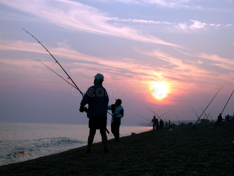 Pesca de mar imagem de stock