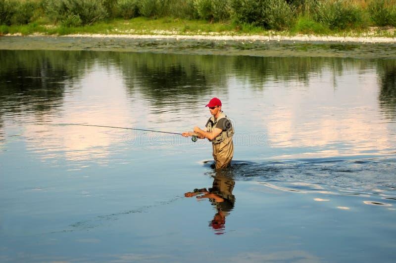 Pesca de mosca foto de stock royalty free