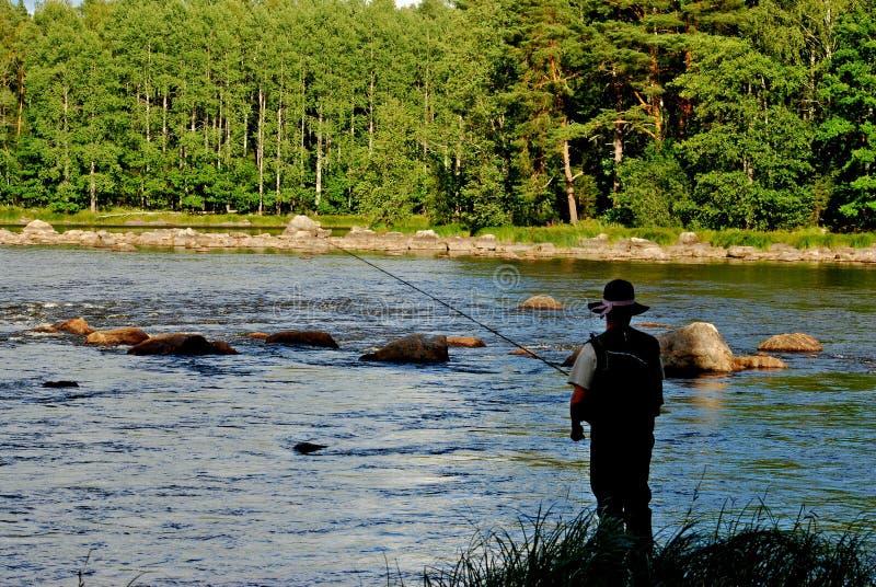 Pesca de mosca do banco imagens de stock royalty free