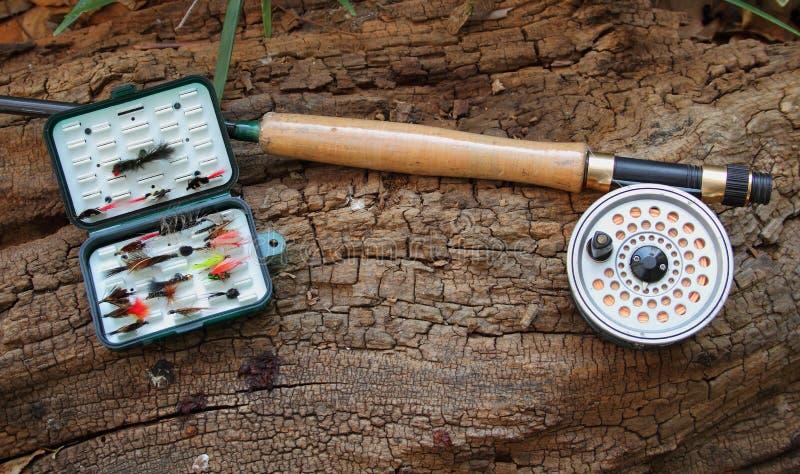 Pesca de mosca em águas calmas imagem de stock royalty free