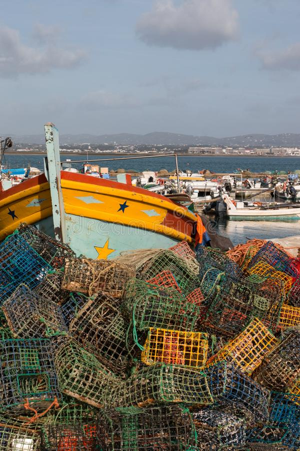 Pesca de trampas en culatra imagenes de archivo