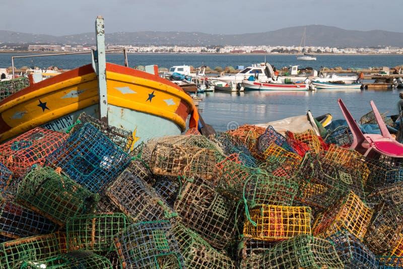 Pesca de trampas en culatra fotografía de archivo libre de regalías