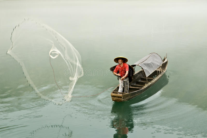 Pesca de XiaoDongJiang imagens de stock