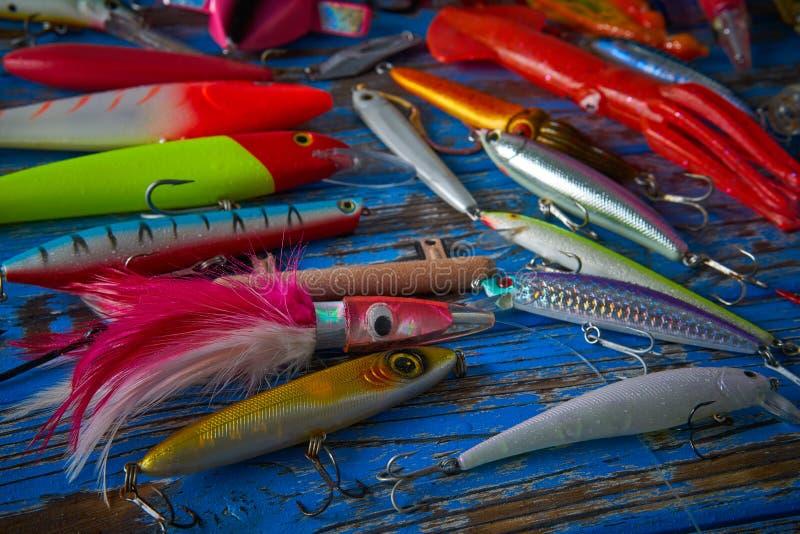 Pesca dei ciprinidi della raccolta dell'attrezzatura di richiami fotografia stock libera da diritti