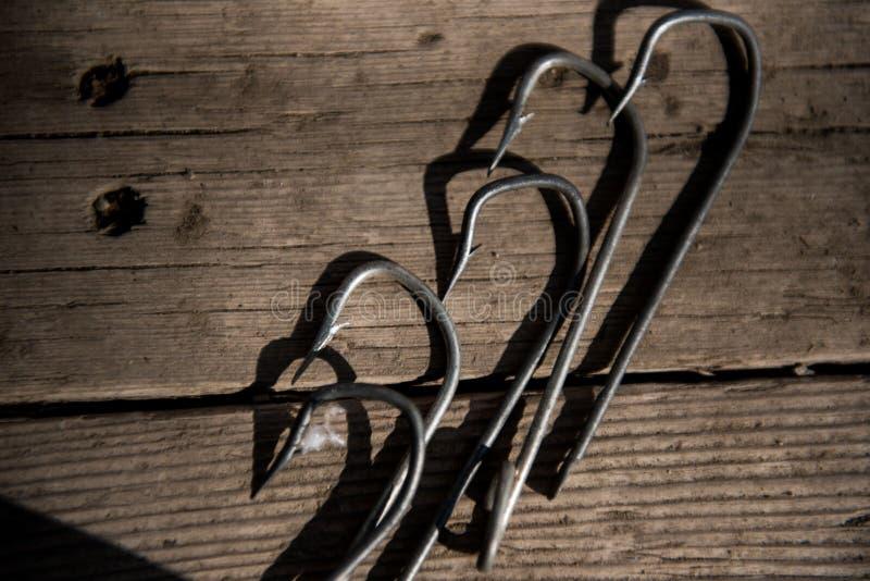 Pesca dei ganci d'acciaio per pescare immagini stock libere da diritti
