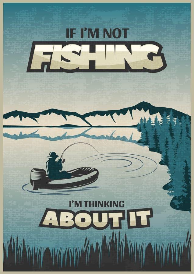 Pesca del cartel azul libre illustration