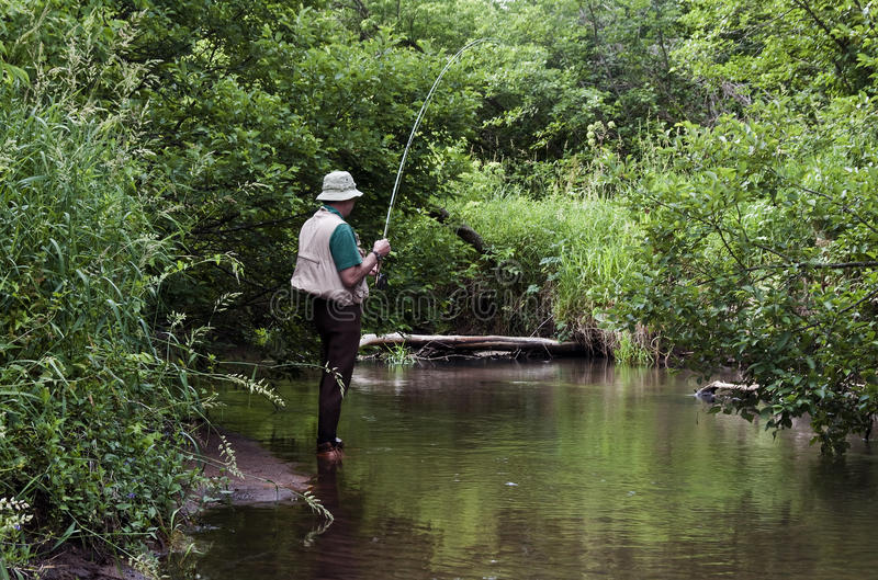 Pesca del flusso immagini stock