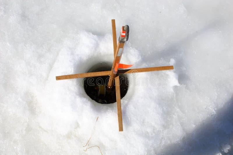 pesca del hielo fotografía de archivo