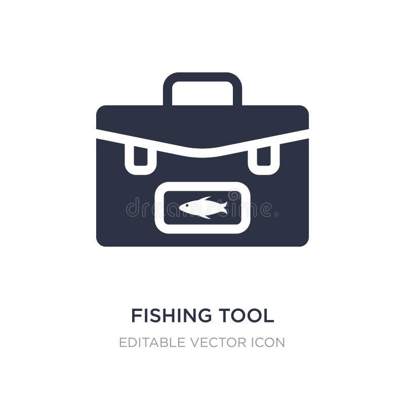 pesca del icono de la herramienta en el fondo blanco Ejemplo simple del elemento del concepto de la comida ilustración del vector