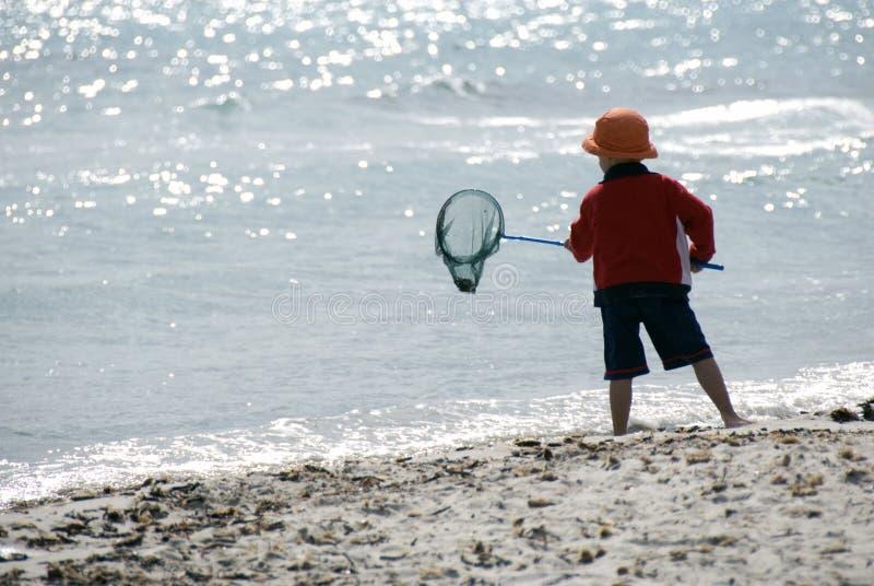 Pesca del muchacho fotos de archivo