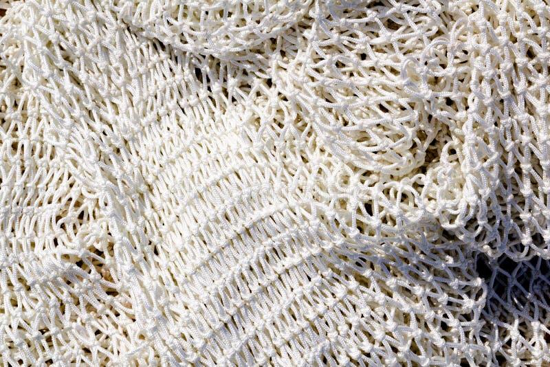 Pesca del nuevo primer neto blanco de la textura imagenes de archivo