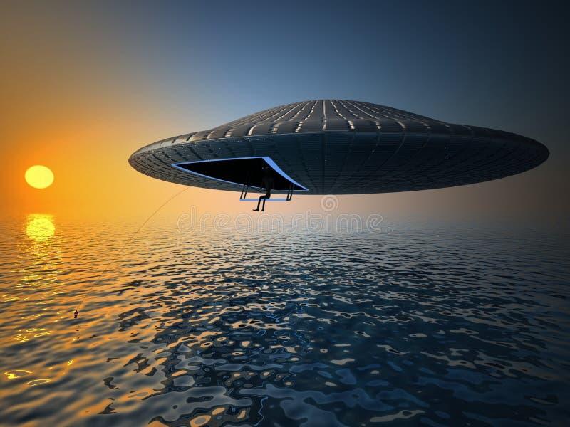 Pesca del UFO fotos de archivo