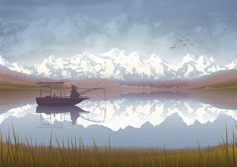 Pesca del viejo hombre libre illustration
