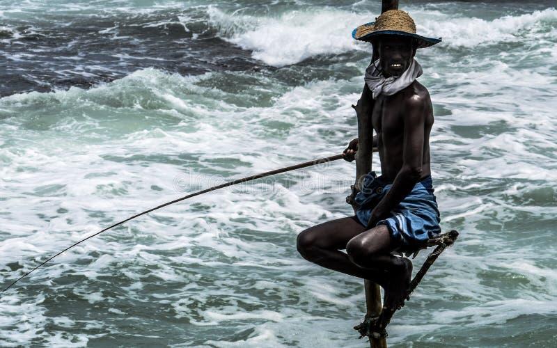 Pesca del zanco foto de archivo