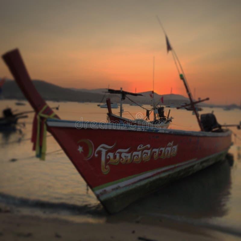 Pesca della barca tailandese fotografia stock